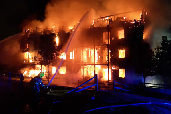 Worcester Park fire: Metropolitan Thames Valley block was a timber frame building