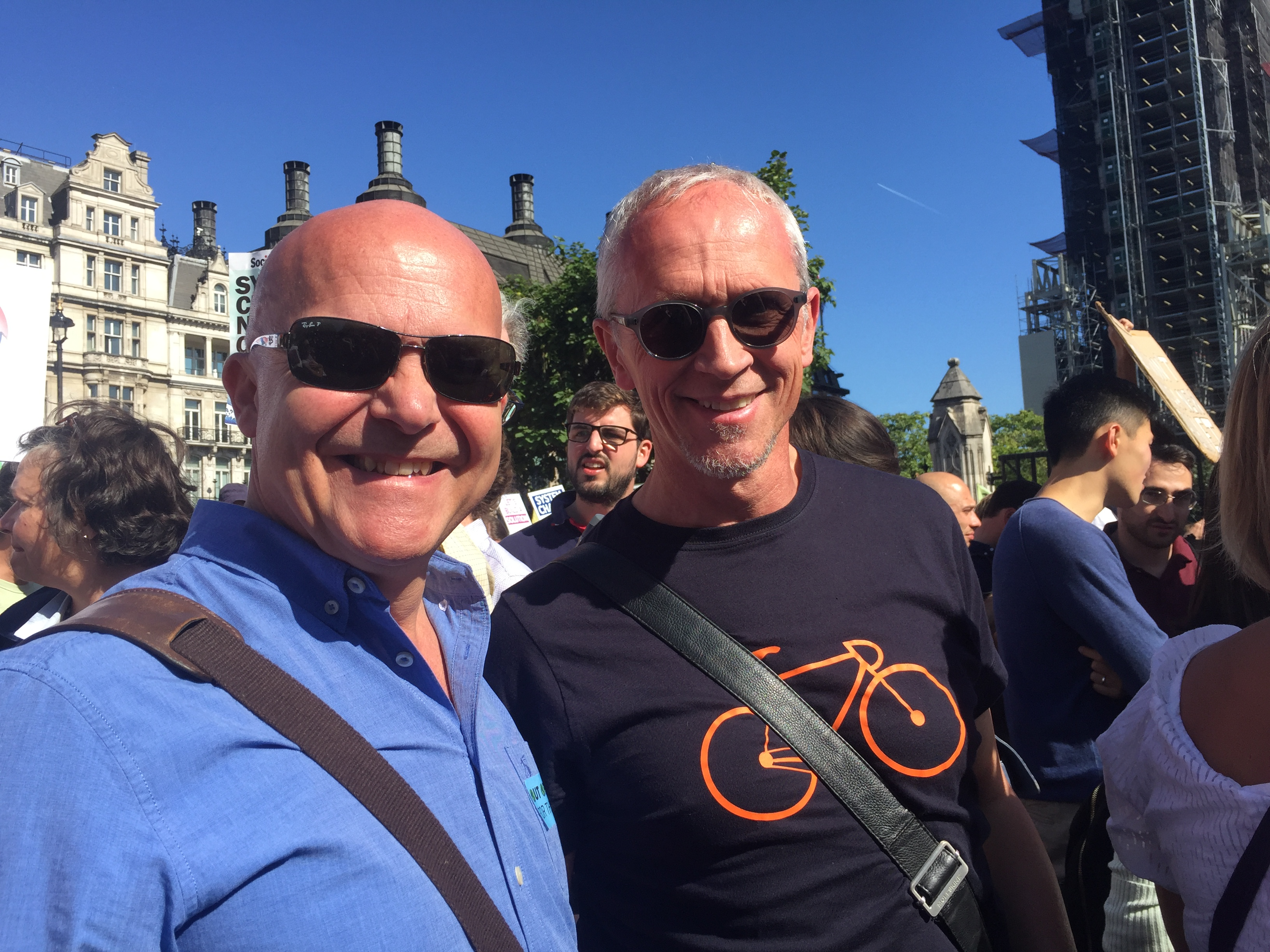 Argent's Peter Runacres, Senior Project Director, and Nick Searl, Partner, at the Climate Strike