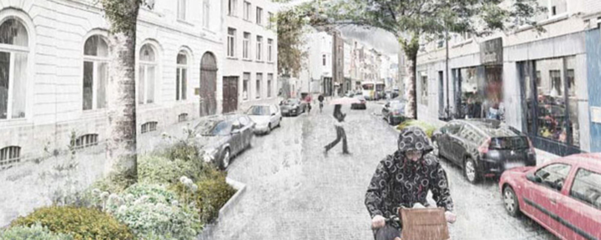 There are plans to 'depave' streets in Ghent to create a 'sponge city'