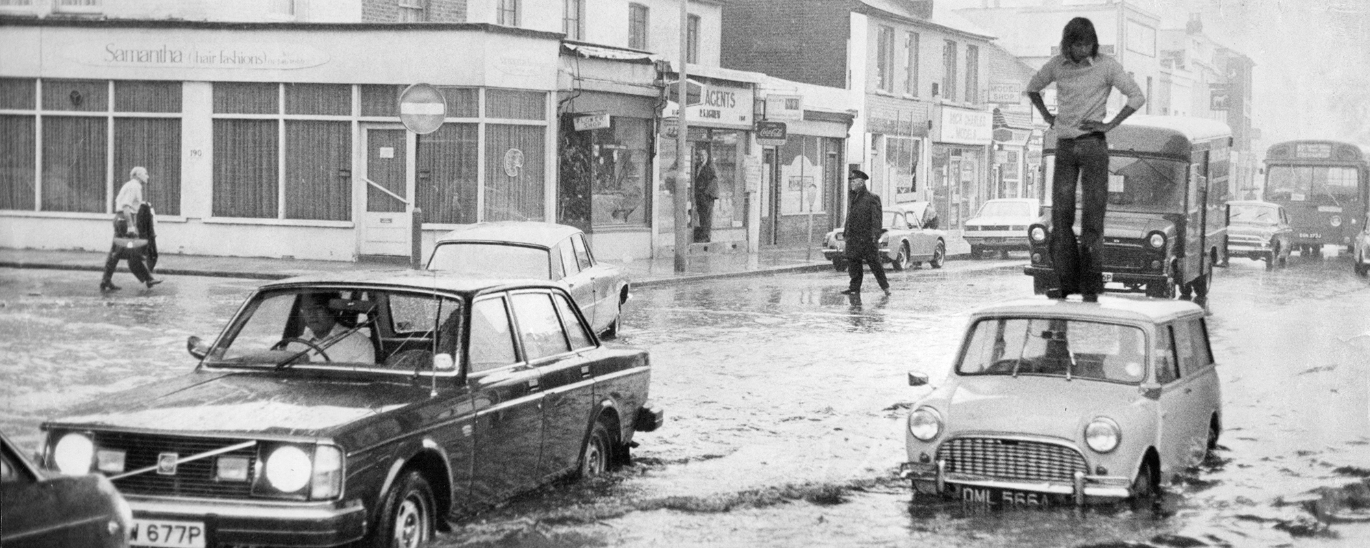 Kingston flooded in 1974 after severe drought was followed by heavy rain Photo: Rex