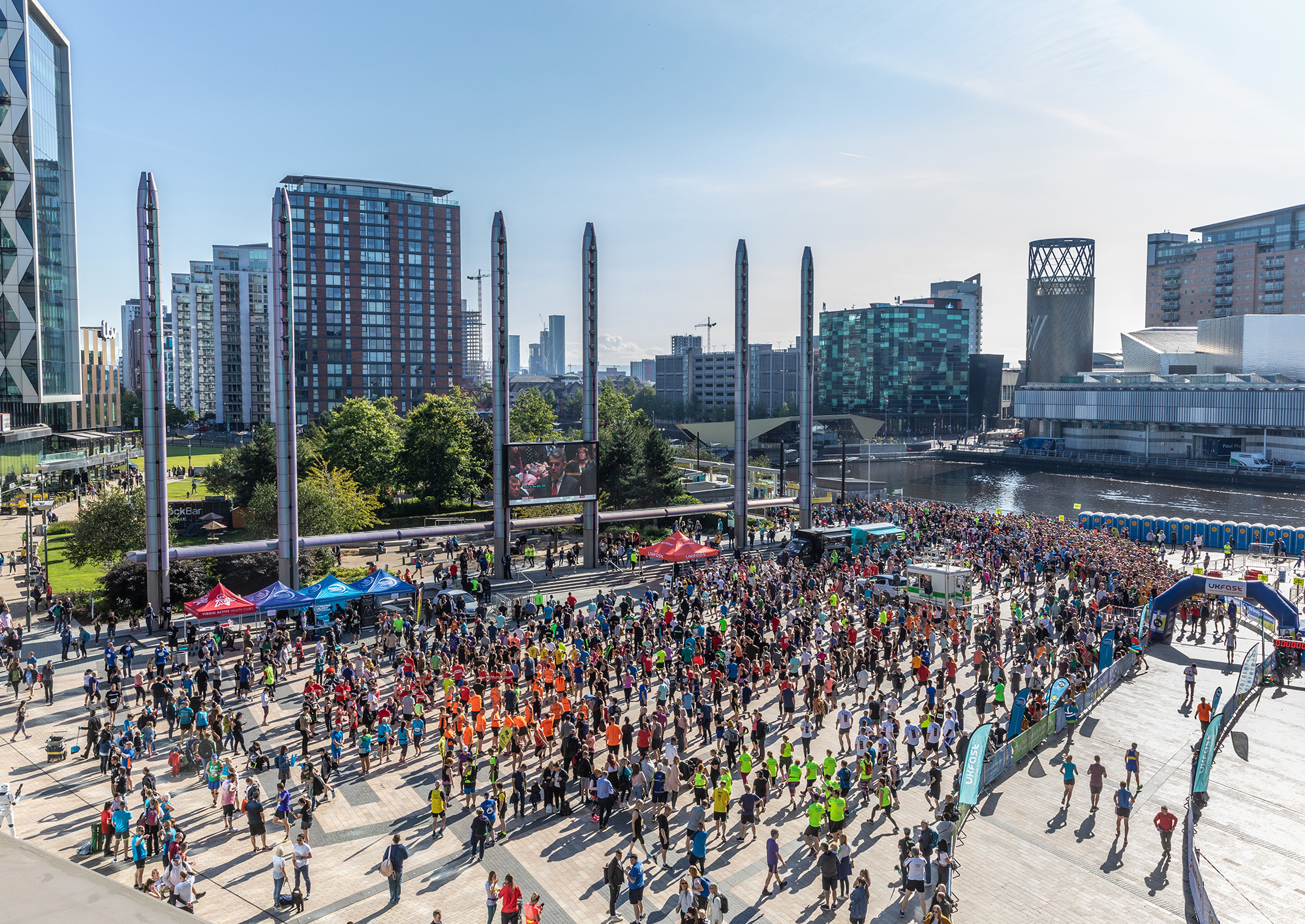 MediaCityUK is the start and finish point of the UKFast City of Salford 10k road race