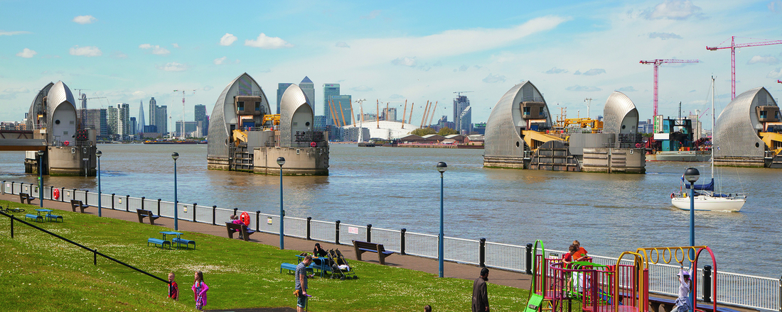 It is just a matter of time before the Thames Barrier is breached by a storm. Photo: Getty Images