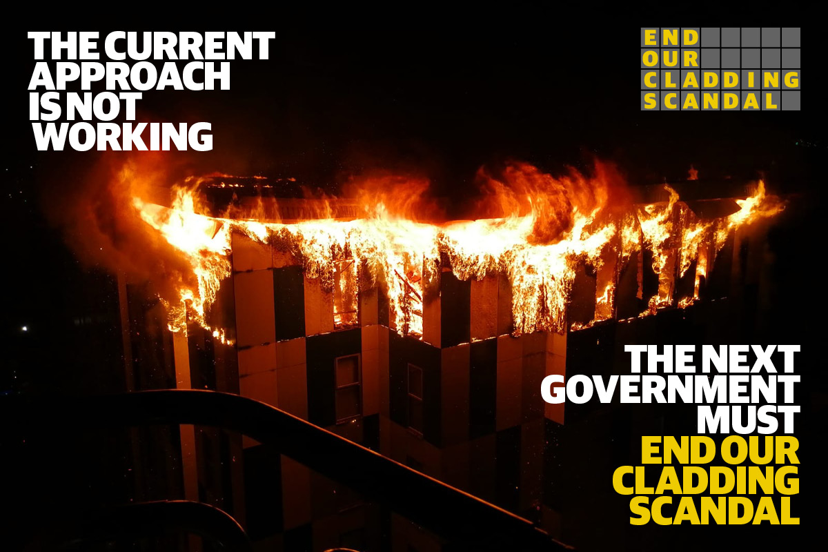 End Our Cladding Scandal campaign calls on political parties to pledge to end cladding crisis
