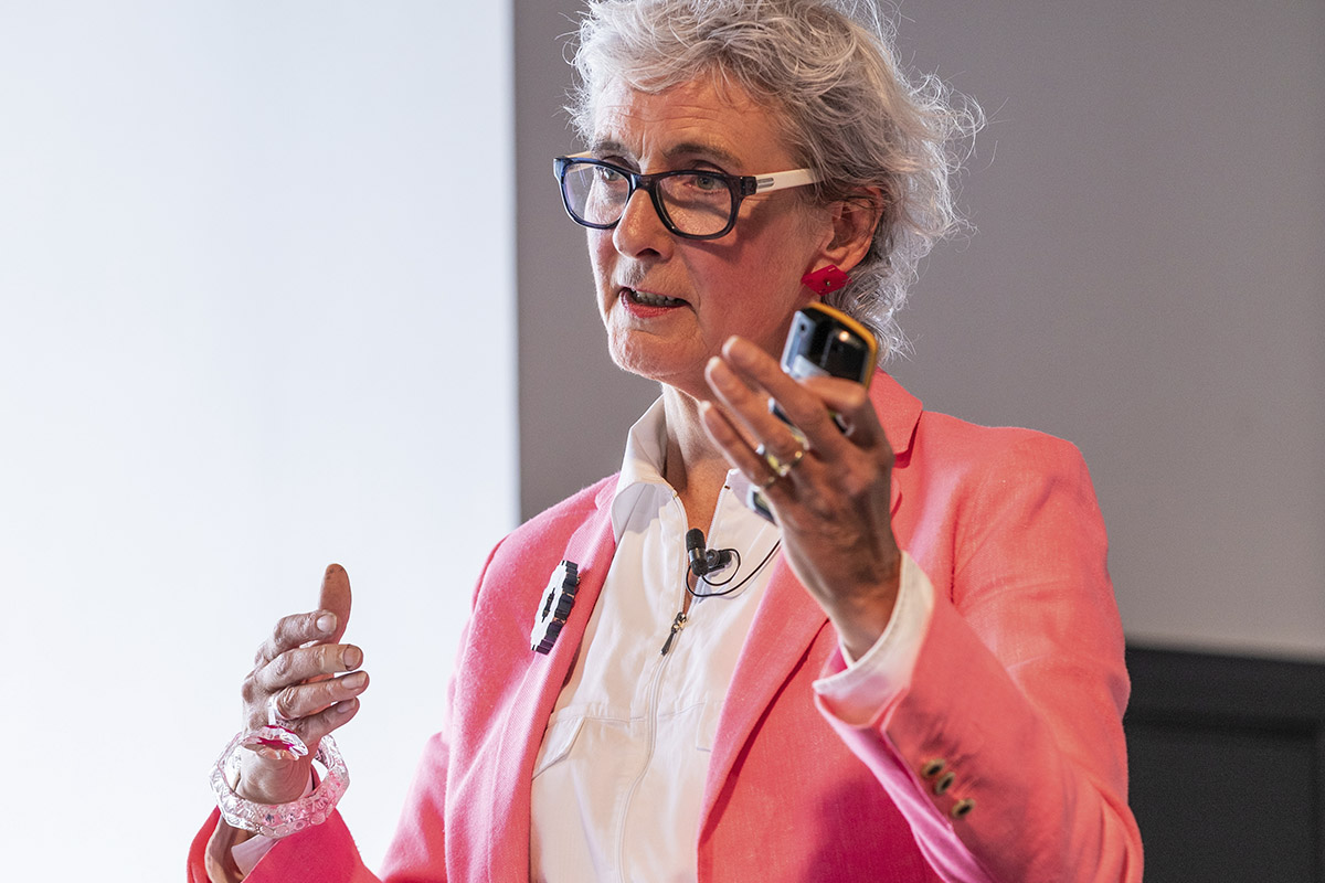 Sarah Weir speaking at the Festival of Place (photo: John Sturrock)
