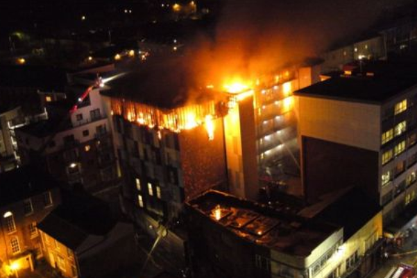 Bolton student accommodation involved in fire clad with HPL, planning documents say