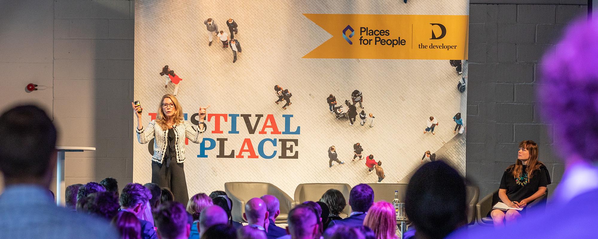 Dr Patrice Derrington addresses the Festival of Place