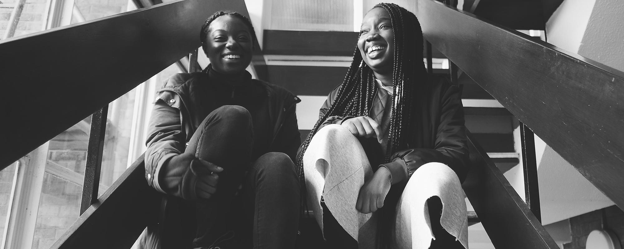 Bosola Ajenifuja and Vanessa Tenkorang, authors of Chalkhill. Photo: Abdou Cisse
