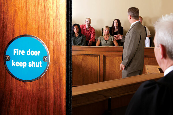 Mock trial shows seriousness of fire door safety