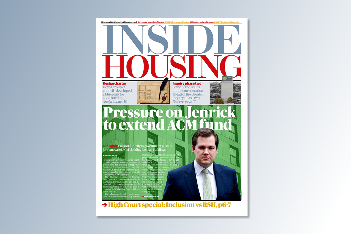 24 January digital edition of Inside Housing out now