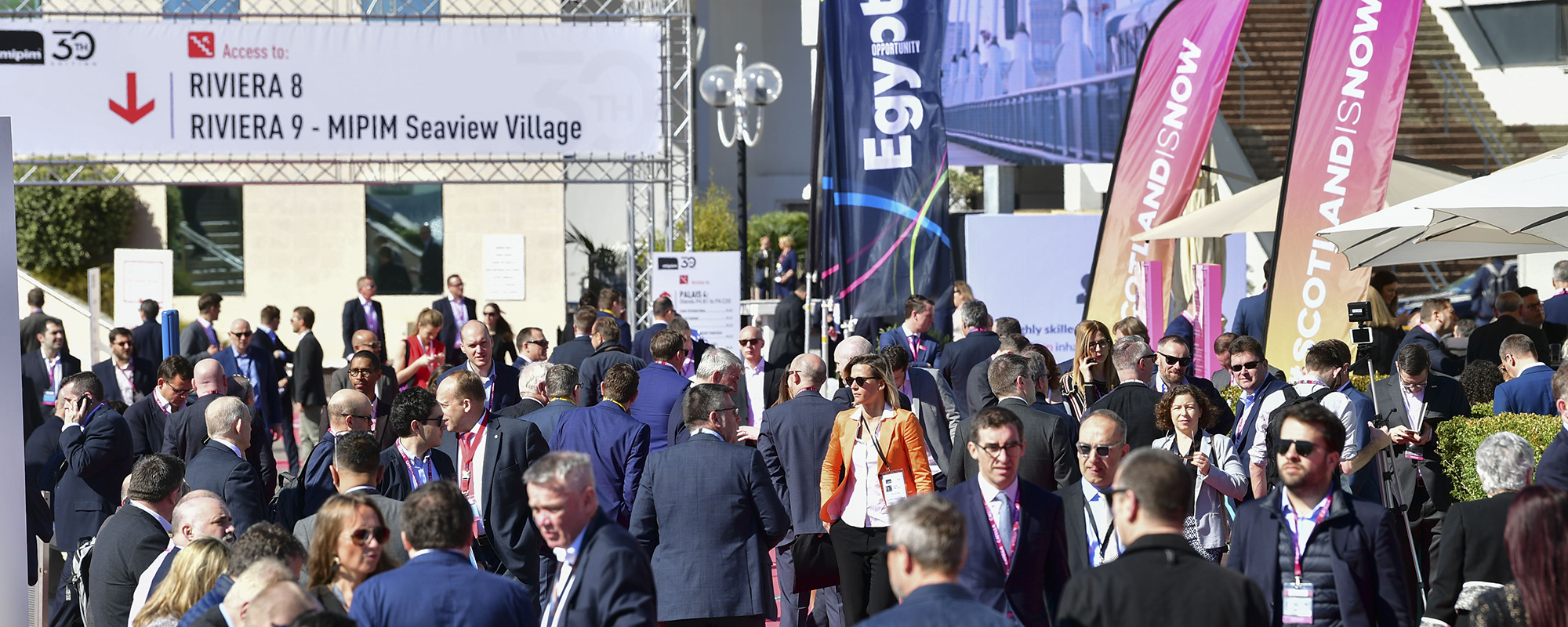 The atmosphere at Mipim, Cannes, in 2019