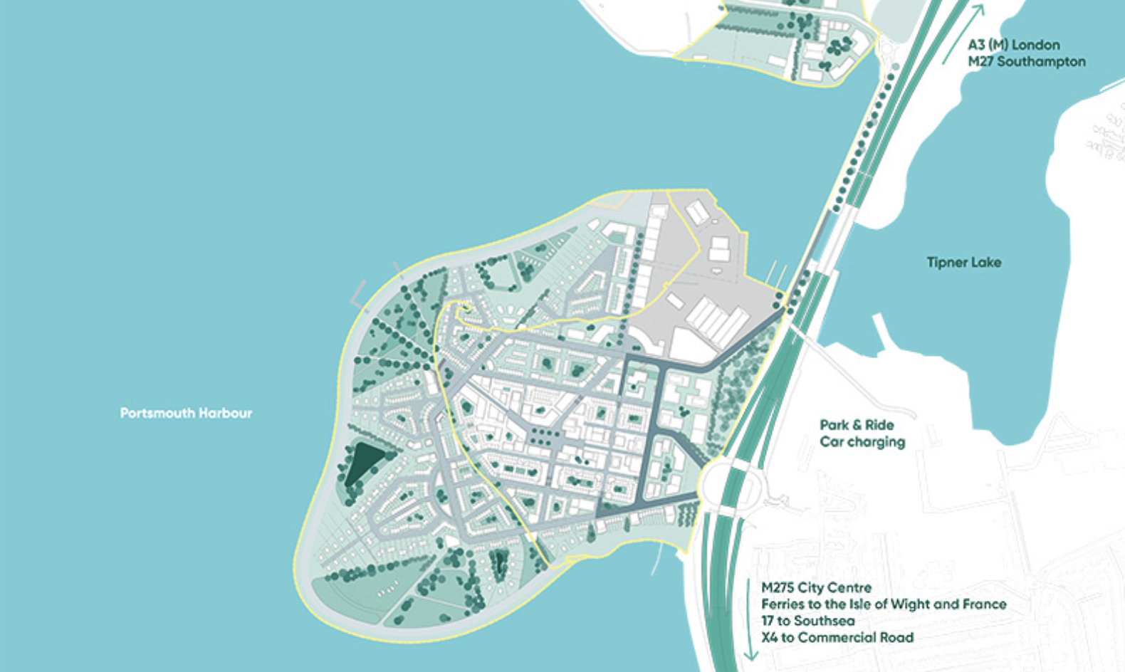 Portsmouth's Tipner West development plans for 4,000 homes and a marine employment hub