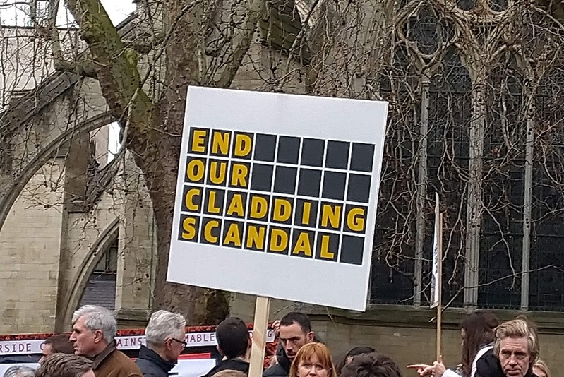 The End Our Cladding Scandal campaign is being relaunched with 10 demands for government (picture: Peter Apps)