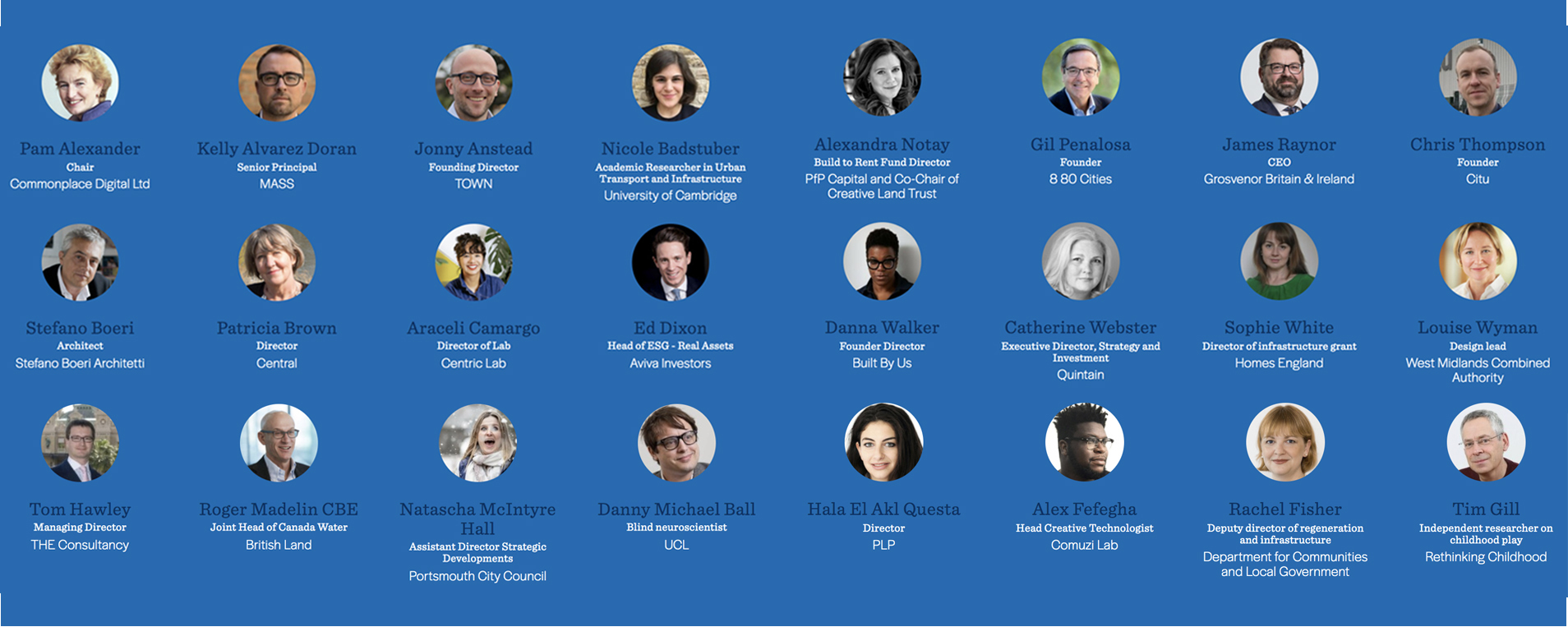 Festival of Place 2020 speakers