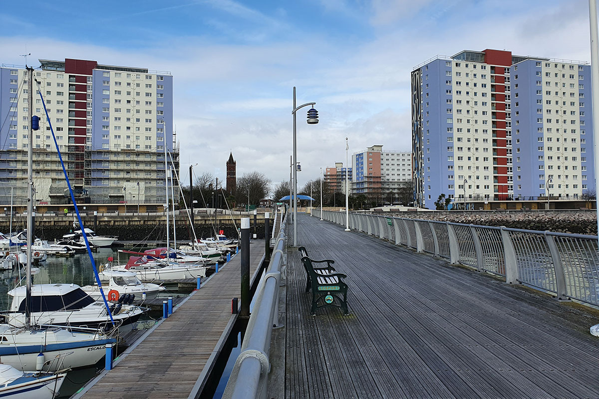 Hyde engaged with residents when it replaced the cladding on five of its high-rise blocks in Gosport