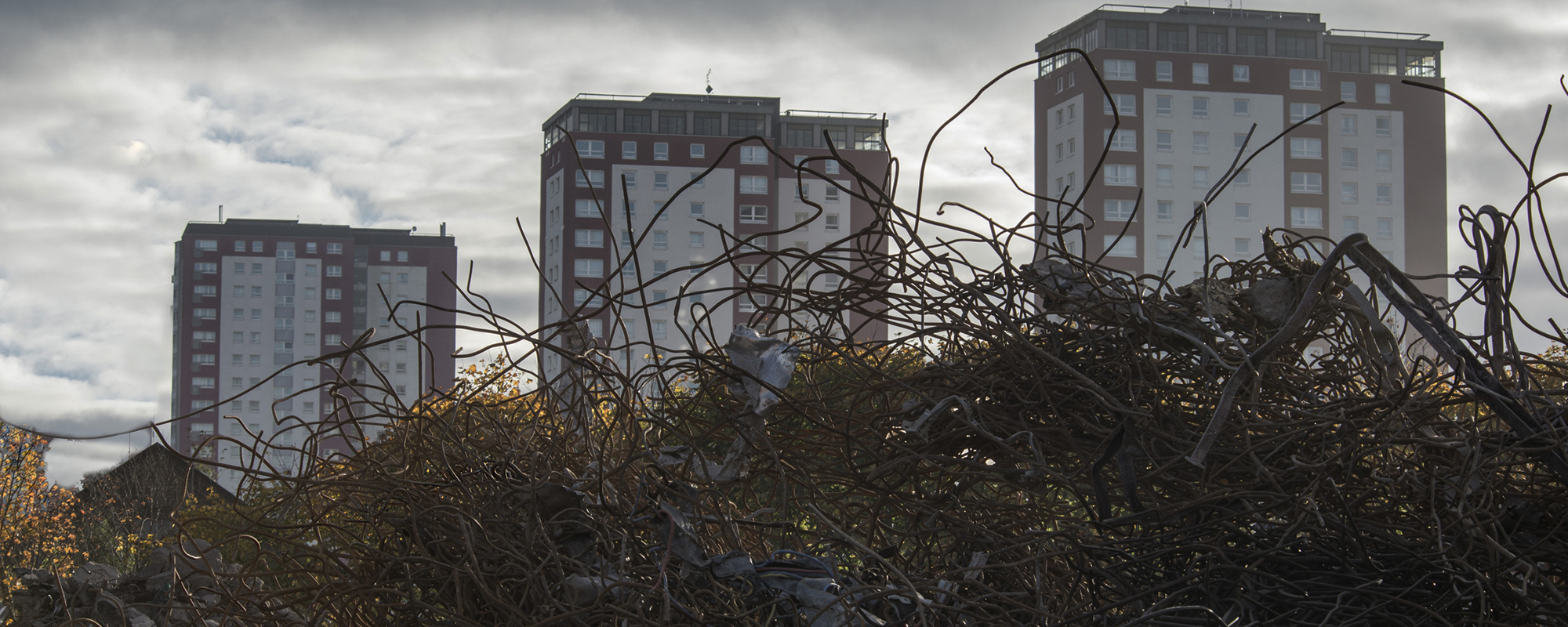 Sighthill in Glasgow during demolition (picture: Getty)