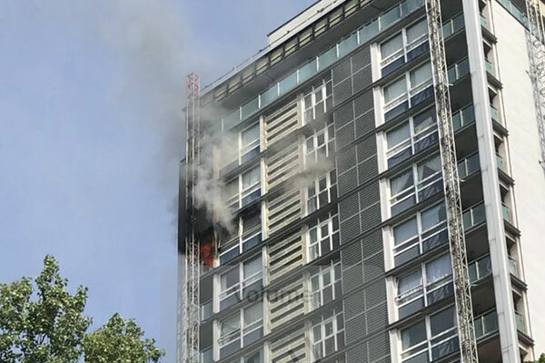 London high rise undergoing cladding work hit by fire