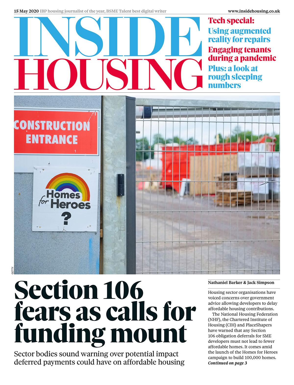 Inside Housing Digital Edition – 15 May 2020