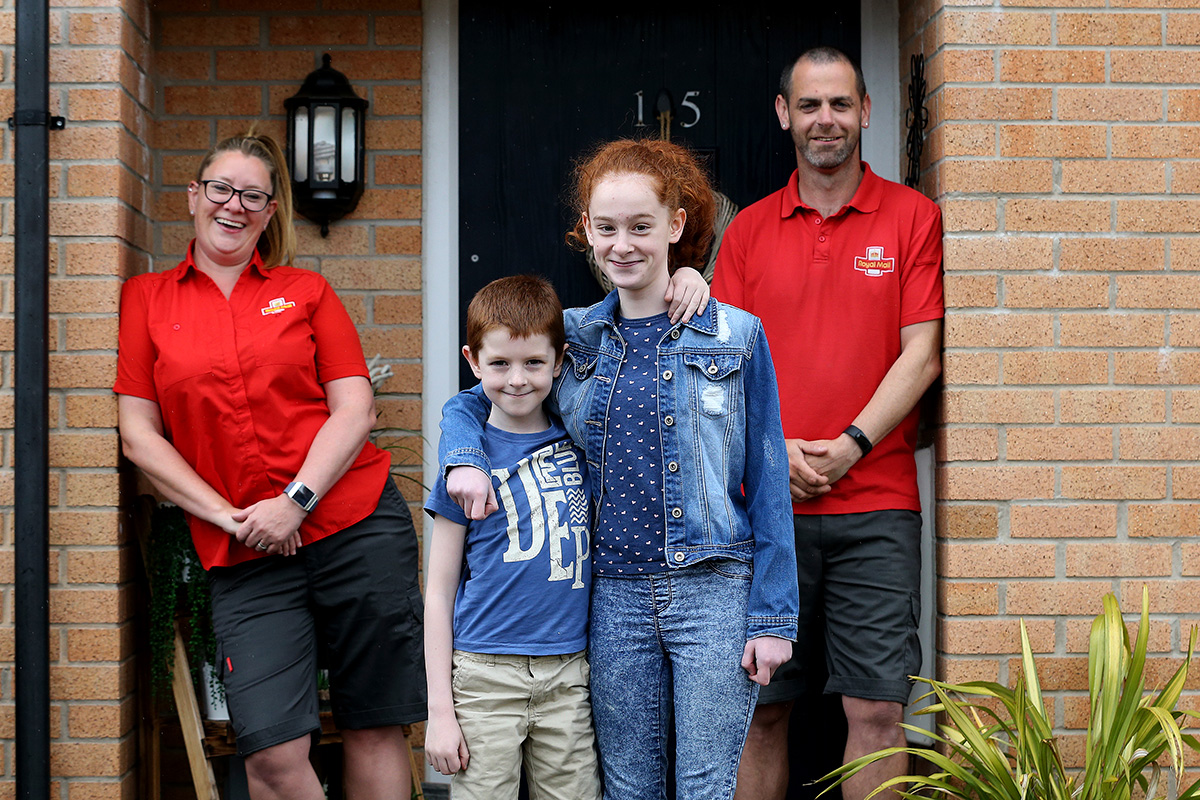Claire Dodd and her husband Matt are postal workers. Matt is also an NHS volunteer. They live with daughter Megan, 13, and son Harvey, eight