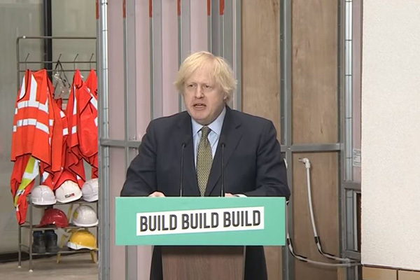 Prime minister Boris Johnson outlining his post-coronavirus recovery plans yesterday