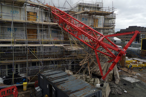 Houses damaged in deadly crane collapse owned by housing association