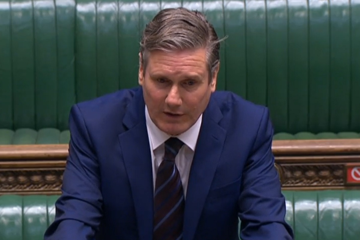 Keir Starmer has set out a six-point plan to address the cladding crisis (picture: Parliament TV)