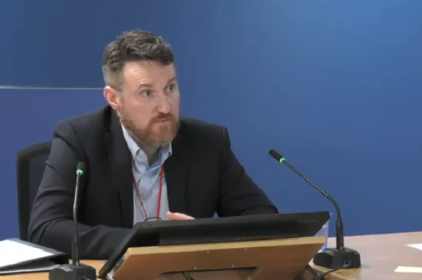 Simon Lawrence addresses the inquiry (picture: Grenfell Tower Inquiry)