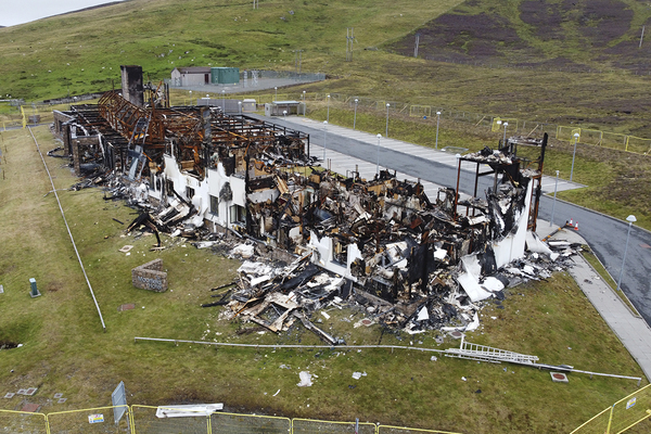 The Moorfield Hotel was a modular development, destroyed in a fire (picture: Georgia Smith/Shetland News)