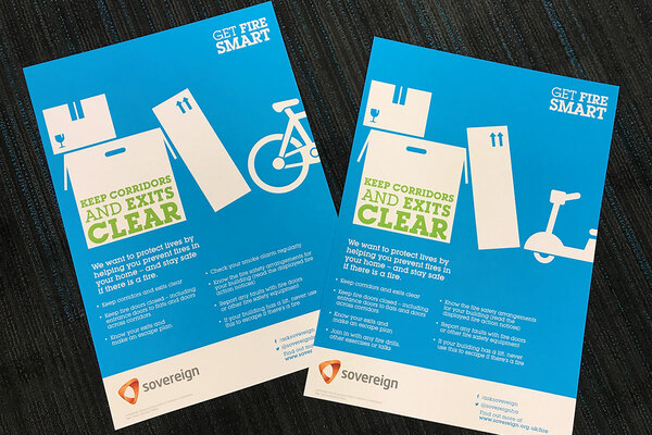 Posters from Sovereign's #GetFireSmart campaign