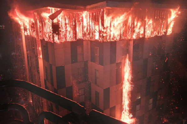 'Increased risk to life' from fire in blocks of flats, new academic report says