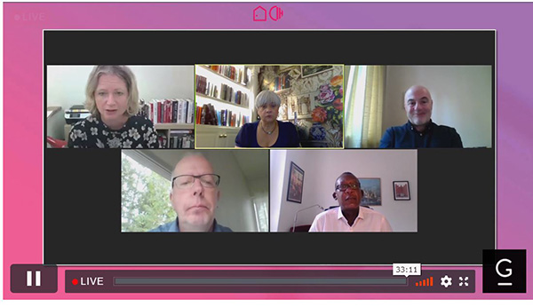 Speakers at yesterday's Virtual Housing Festival session on tackling homelessness