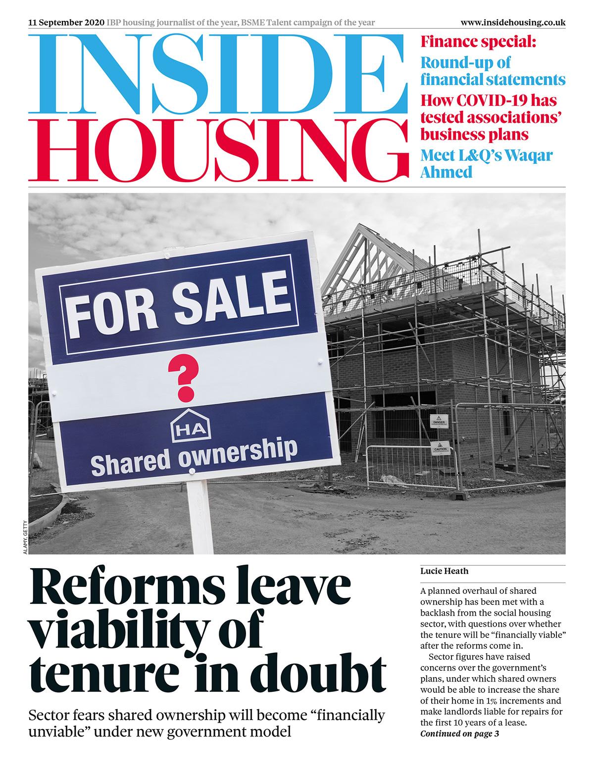 Inside Housing Digital Edition – 11 September 2020