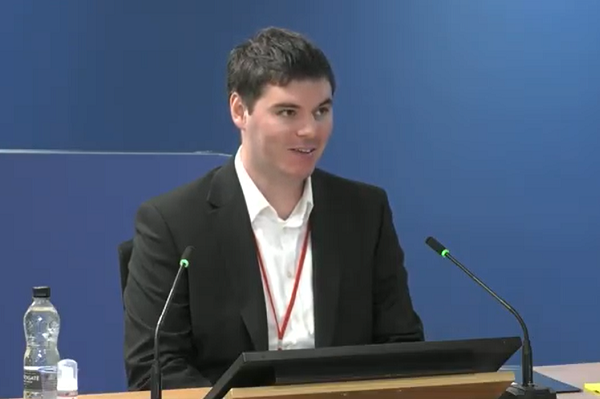 Ben Bailey, former Grenfell project manager, gives evidence (picture: Grenfell Tower Inquiry)