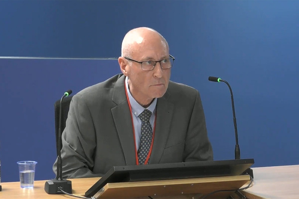 David Gibson, former head of capital investment at Kensington and Chelsea Tenant Management Organisation (picture: Grenfell Tower Inquiry)