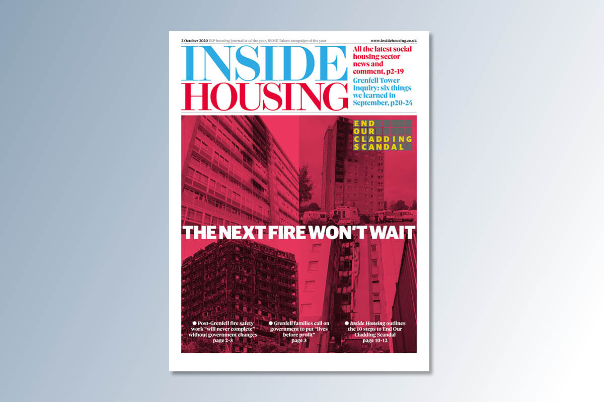 2 October digital edition of Inside Housing out now