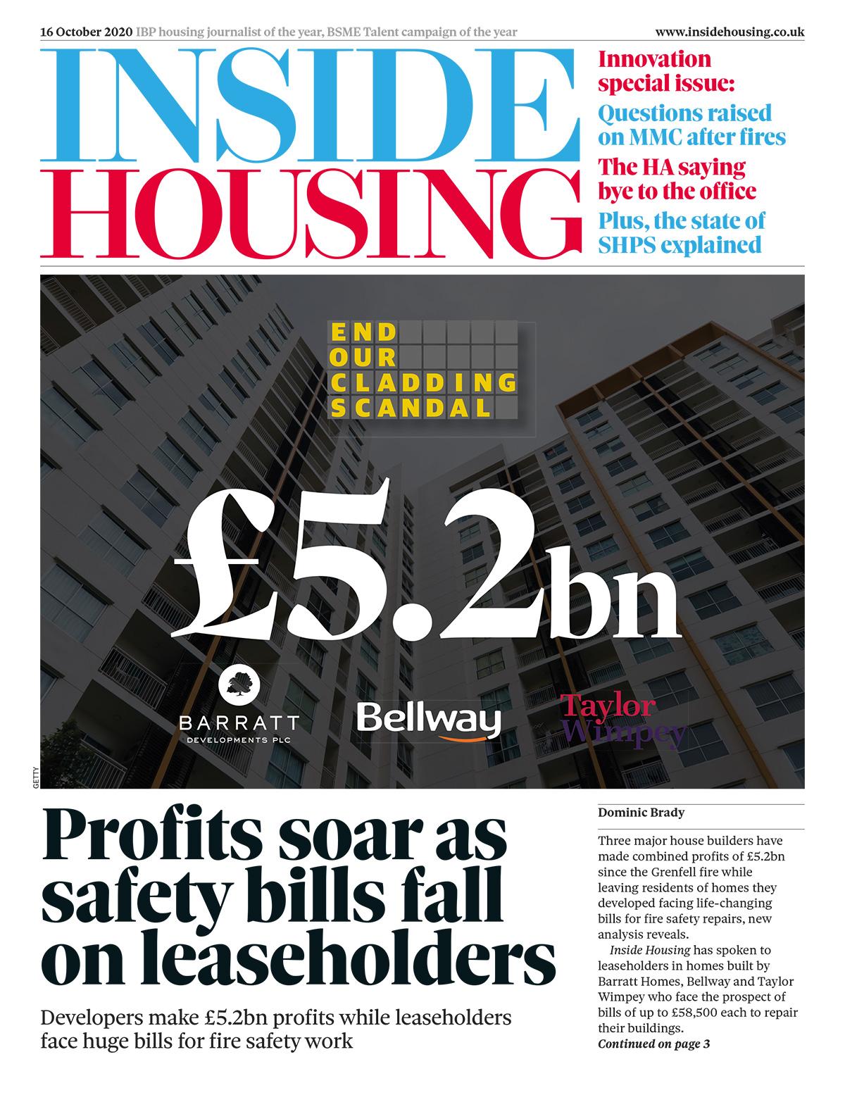 Inside Housing Digital Edition – 16 October 2020