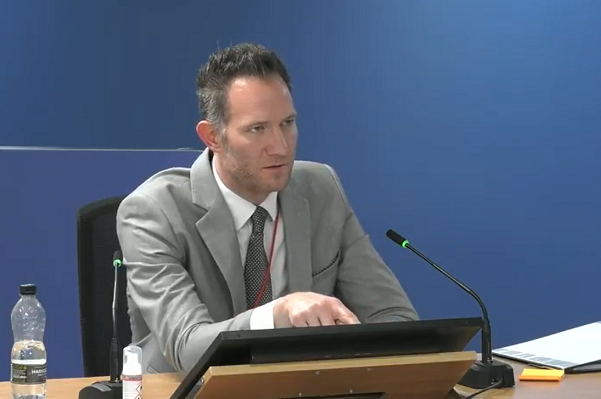 Phillip Booth gives evidence to the inquiry (picture: KCTMO)