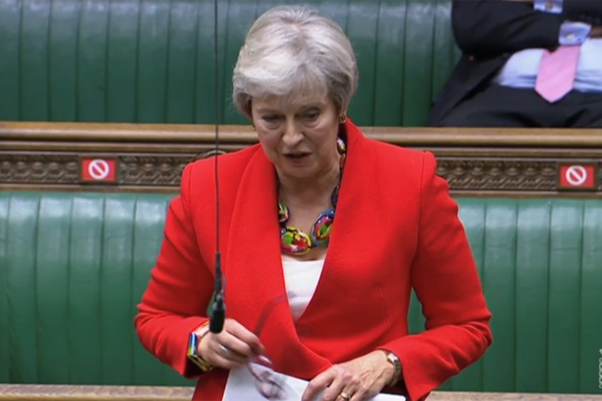 Former prime minister Theresa May (picture: Parliament TV)