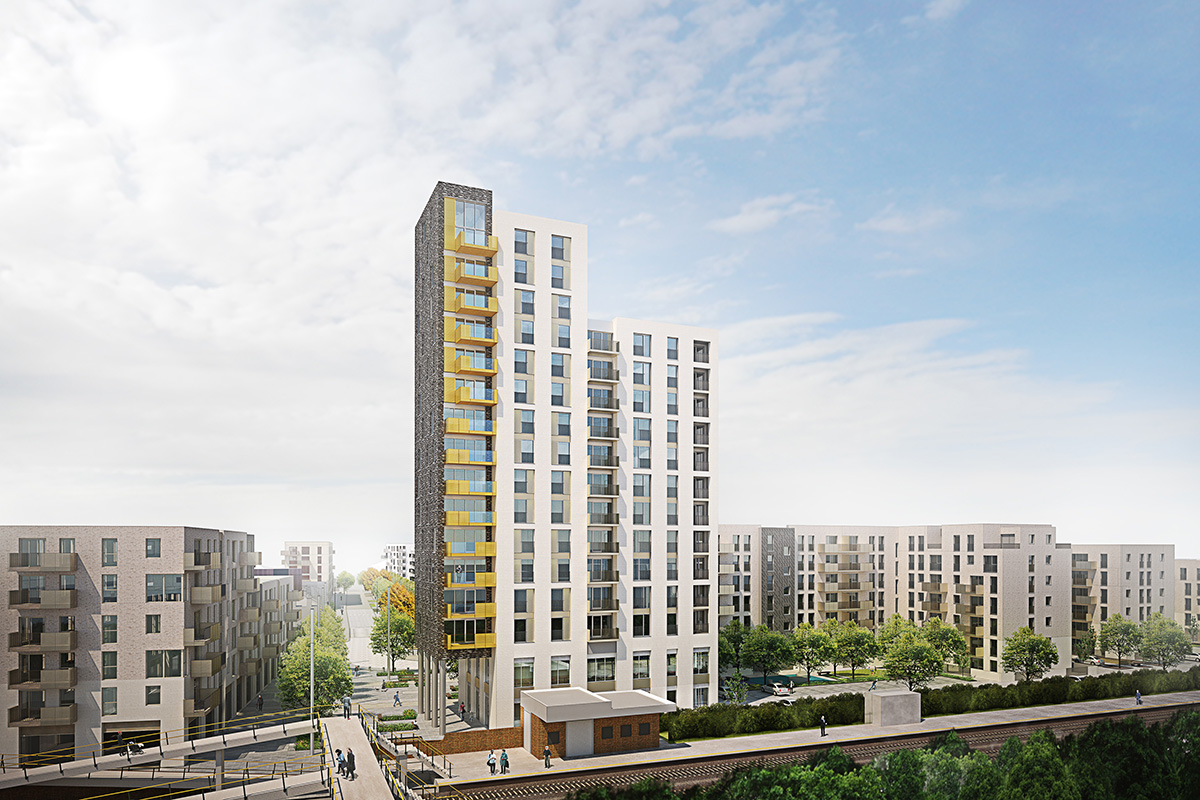 A CGI of the completed Alma Estate. The regeneration of the estate is the first in Enfield for more than 30 years (Picture: Enfield Council)