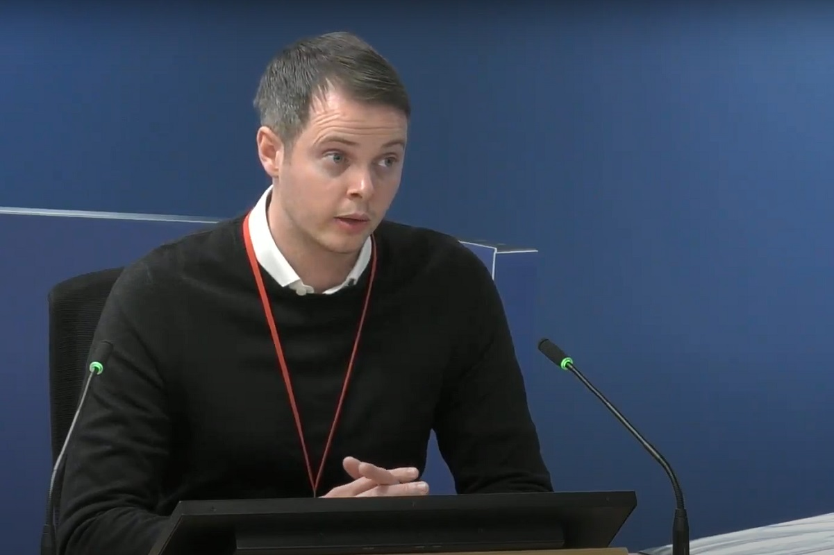Jonathan Roper gives evidence to the inquiry (picture: Grenfell Tower Inquiry)