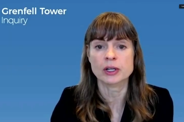 Stephanie Barwise QC delivered her opening statement by video link (picture: Grenfell Tower Inquiry)