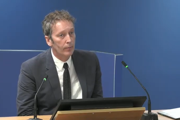 Peter Maddison gives evidence to the inquiry (picture: Grenfell Tower Inquiry)