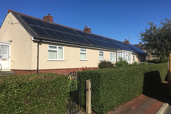 Together Housing installed solar panels on 250 of its homes (picture: Howard Ward Associates)