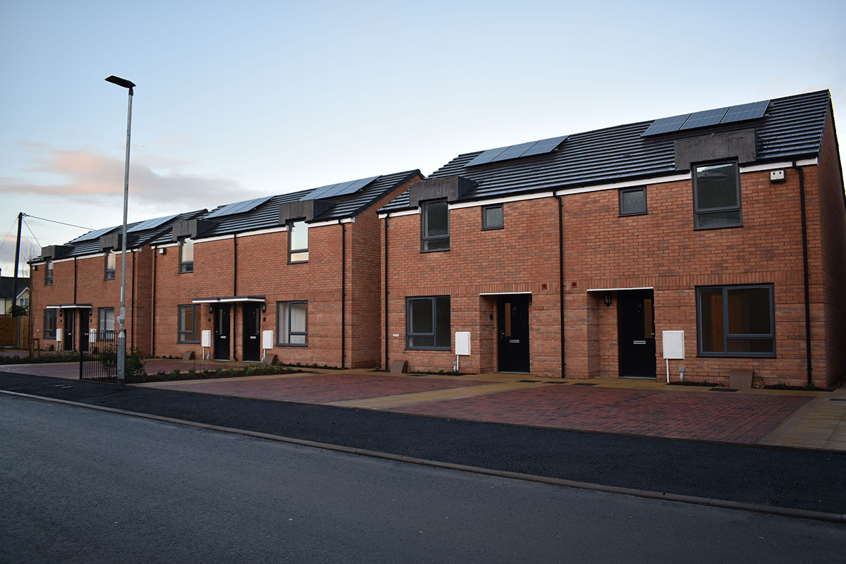 Ex-members of the Armed Forces built their own homes at the Noden's Mews development in Leominster (picture: Stonewater)