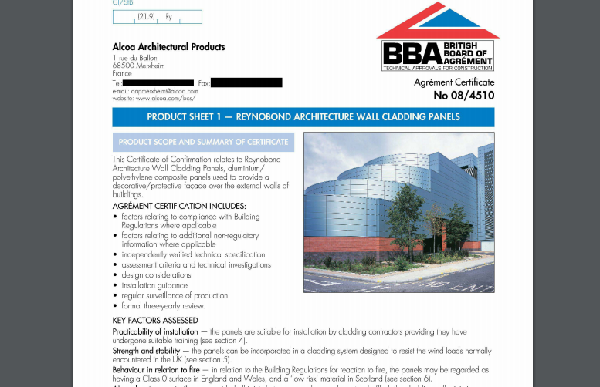 What did the BBA certificate say?