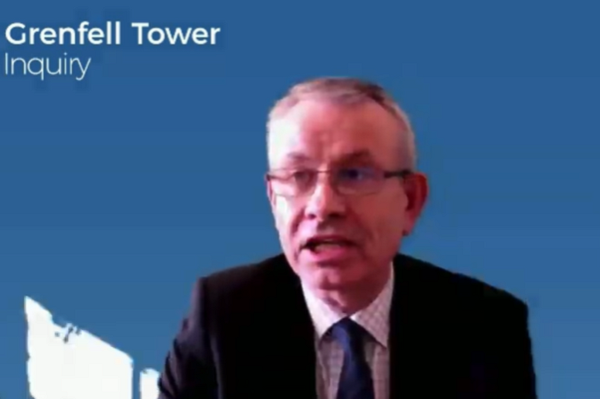 John Albon gives evidence to the inquiry (picture: Grenfell Tower Inquiry)