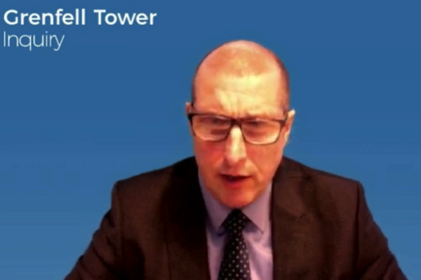 Richard Burnley gives evidence to the Grenfell Tower Inquiry (picture: Grenfell Tower Inquiry)