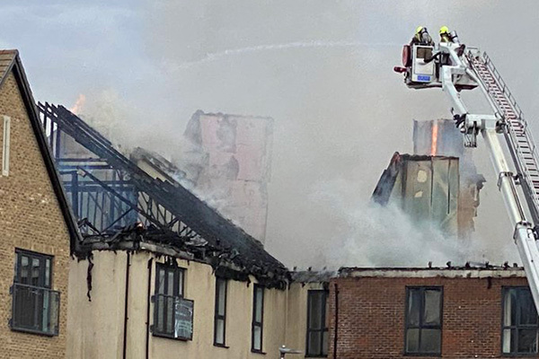 Residents of Berkshire block severely damaged by fire placed in temporary accommodation