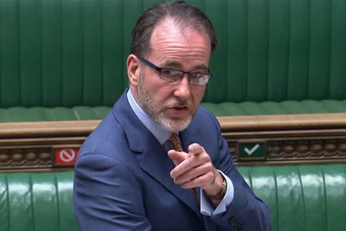 Christopher Pincher tweeted to say he would conitnue as housing minister (picture: Parliament TV)
