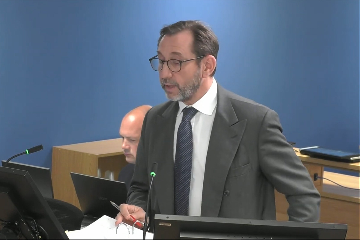 Richard Millett QC, lead counsel to the inquiry (picture: Grenfell Tower Inquiry)