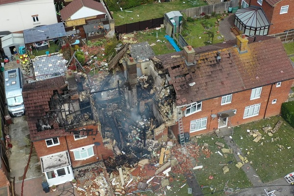 Council house explosion injures seven
